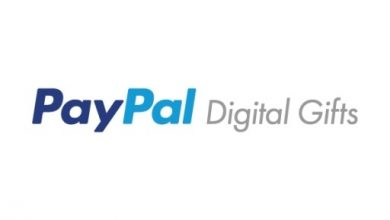 الهدايا الرقمية من PayPal
