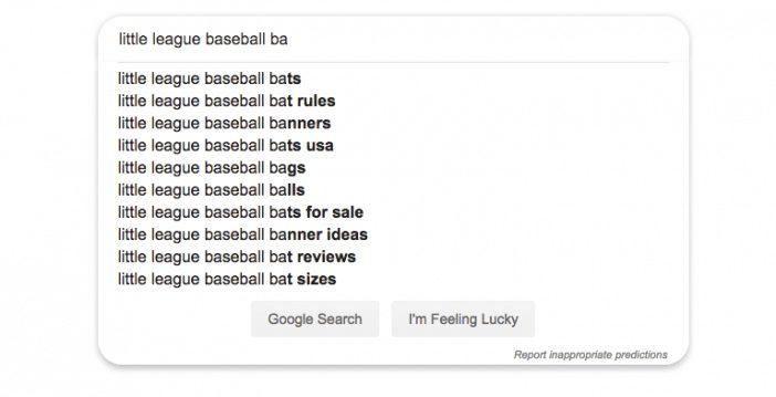 Google Instant اقتراحات