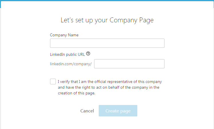 انشاء حساب شركة في لينكد ان