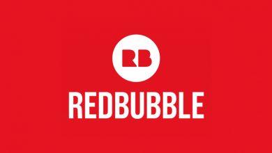 صورة موقع Redbubble أساس الربح من تصميم التيشرتات