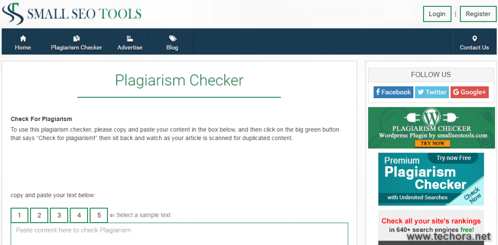 موقع plagiarism checker